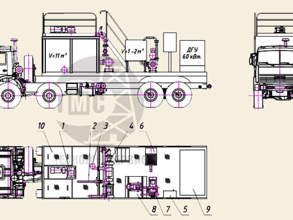 Блок приготовления раствора БПР-2М