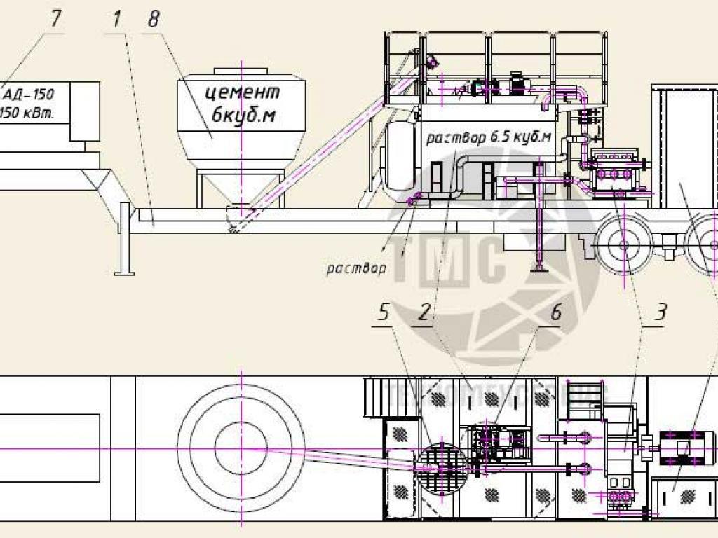 Установка приготовления тампонажного раствора УПТР-5